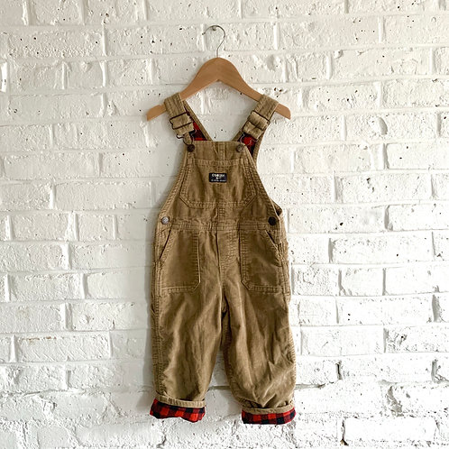 Flannel-Lined OshKosh B'gosh Overalls