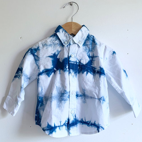 Janie & Jack Shibori Inspired Button-up