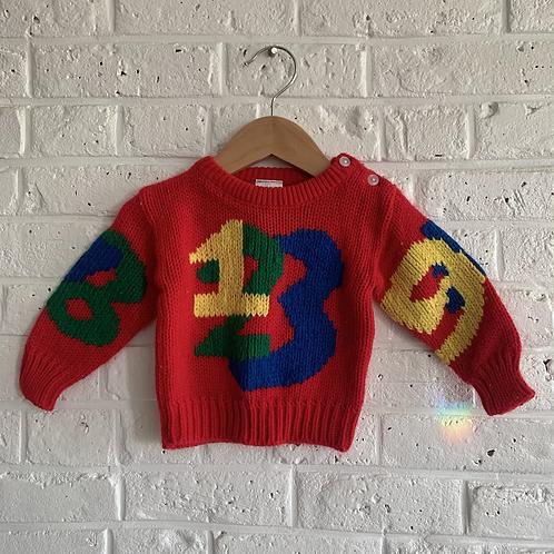 Vintage Numbers Sweater
