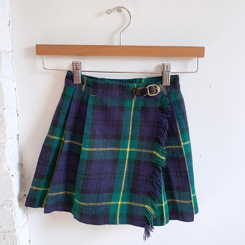 Vintage Flannel Kilt with Buckle