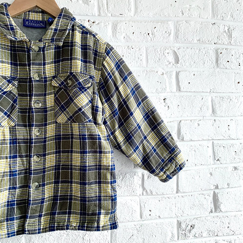 Lined Plaid Button-up