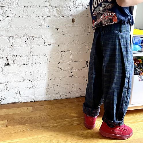 Vintage Pleated Jacquard Trousers