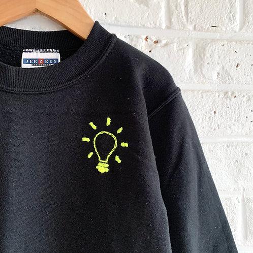Mini Lightbulb Embroidered Sweatshirt