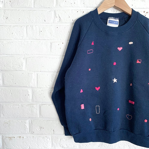 Embroidered Shapes Sweatshirt