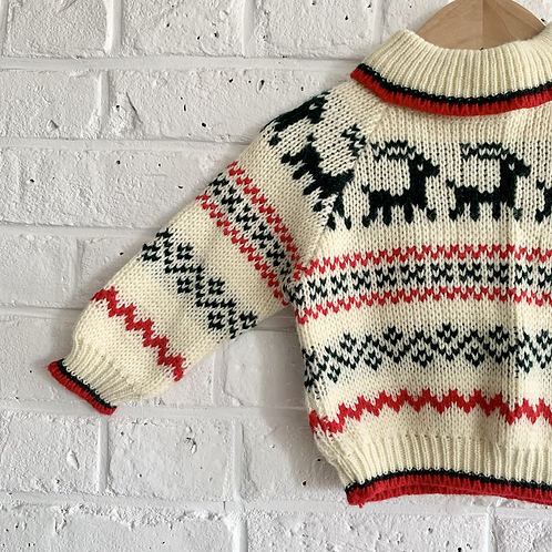 Vintage Deer Sweater