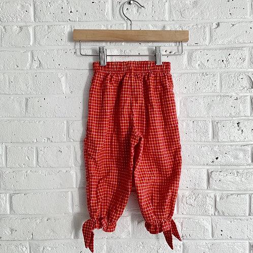 Pull-on Plaid Pants