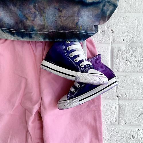 """""""Purple Fog"""" Tie Dye Converse"""