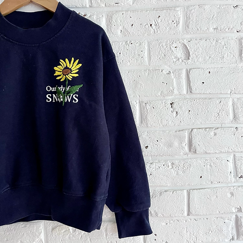 Embroidered Daisy Sweatshirt