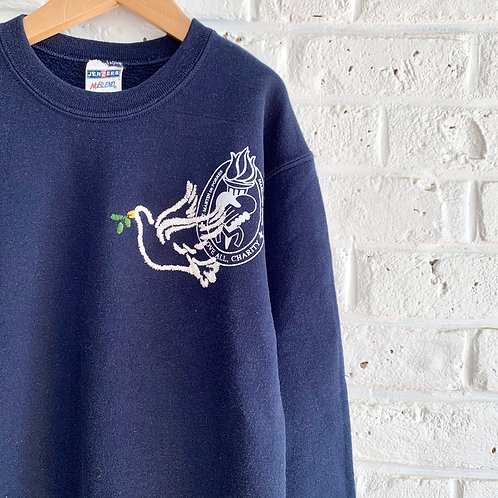 Embroidered Dove Sweatshirt