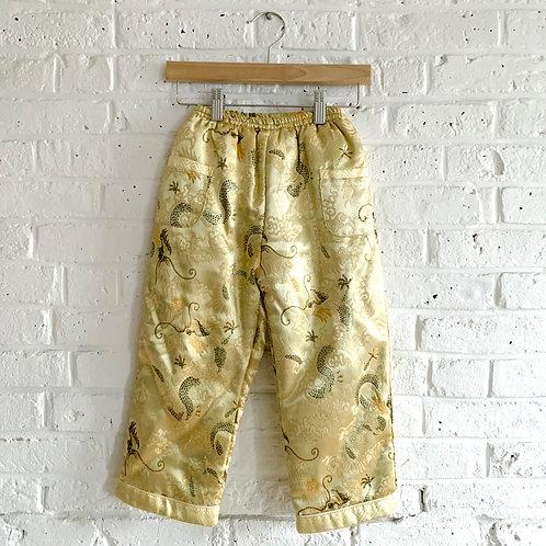 Silk Jacquard Padded Pants