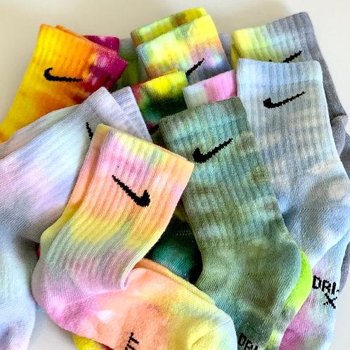 Tie dye Nike socks (XS)