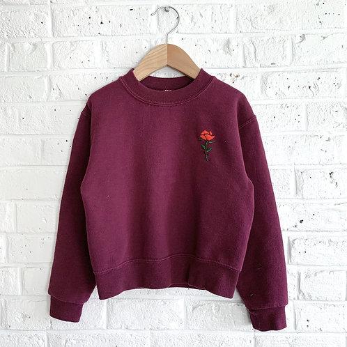 Mini Rose Embroidered Sweatshirt