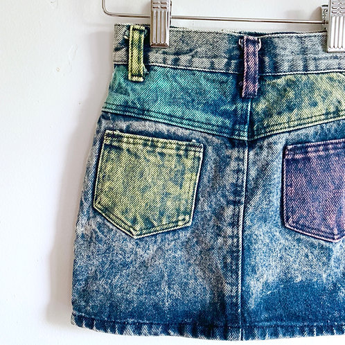 Vintage 80's Acid Wash Skirt