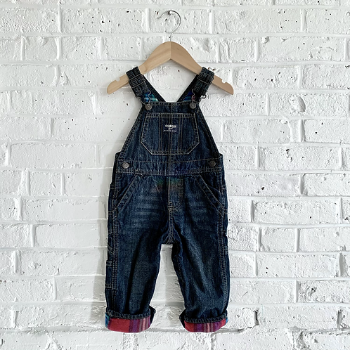 Flannel-Lined OshKosh B'gosh Overalls