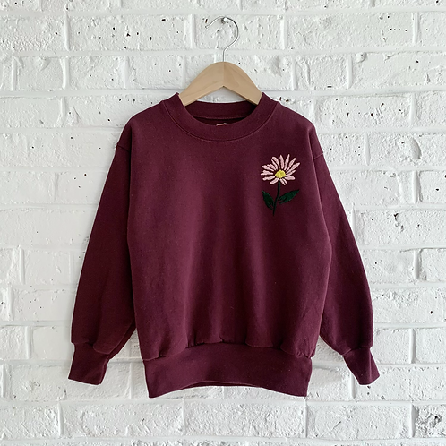 "Embroidered ""Daisy"" Sweatshirt"