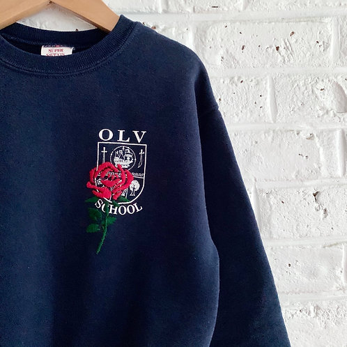Embroidered Rose Sweatshirt