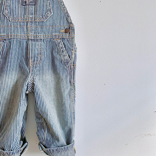 Distressed Engineer Stripe Overall