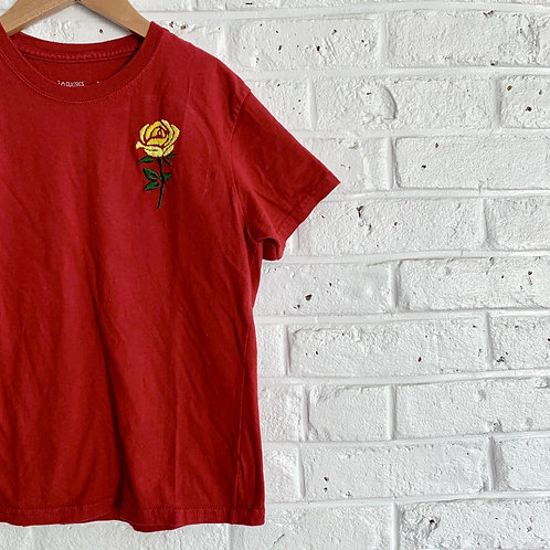"""""""Yellow Rose"""" Embroidered Tee"""