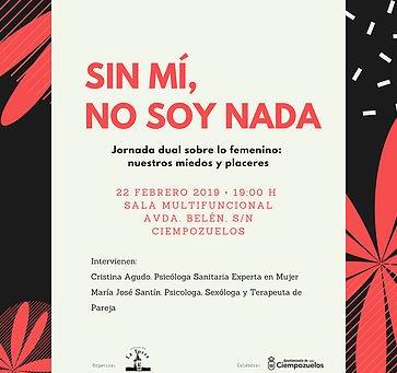 """Encantada de invitarte el día 22 febrero a la Jornada gratuita """"Sin mí, no soy nada"""""""
