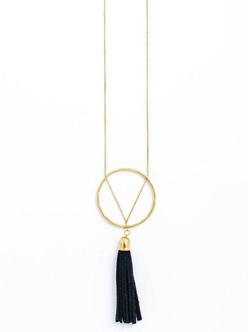 Ellaria Tassel Necklace-Black