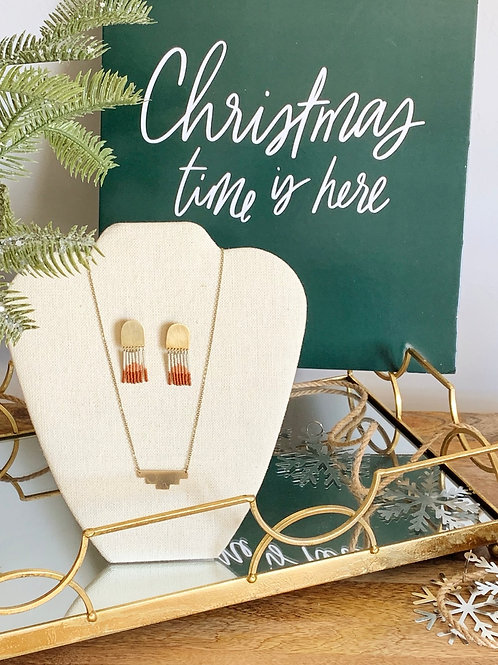 Singo Necklace/Makola Earrings-Holiday Bundle
