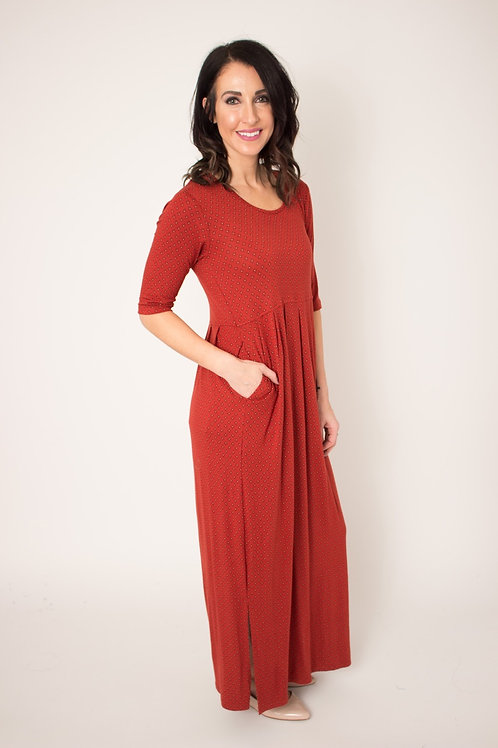 Empire Maxi Dress-Amber