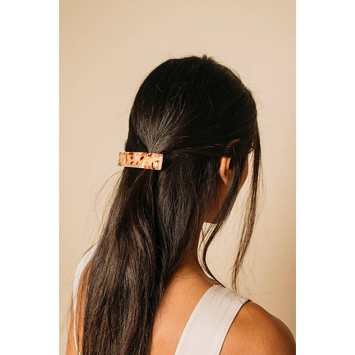 French Barrette in Rose Tortoise