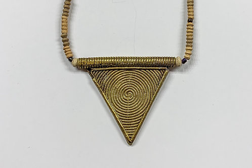 Clay Triangle Necklace
