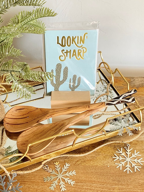 Serving Spoon/Card Set-Holiday Bundle