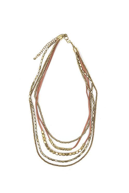 Peace Warrior Necklace-Brass