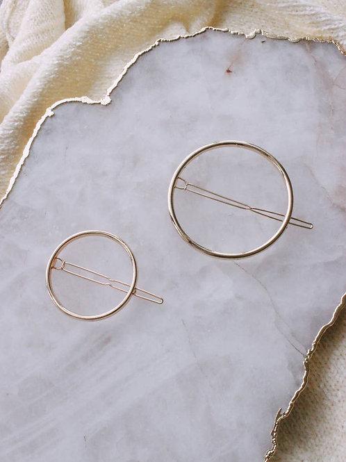 Gold Circle Clip