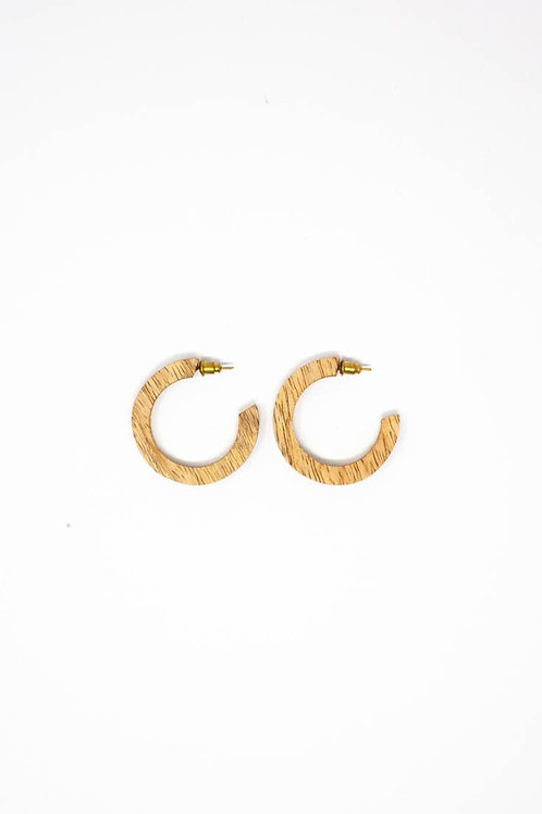 Wood Mango Hoops