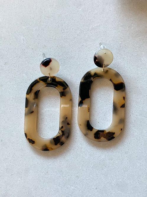 Acrylic Earrings - light tortoise shell