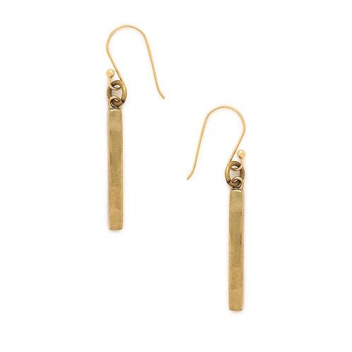 Recycled Brass Bar Earrings