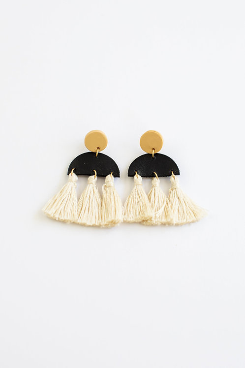 Bahari Clay Natural Tassel Earring
