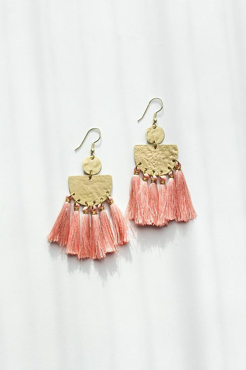 Tasseling Blush Earrings
