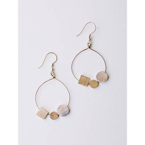 Melodic Stone Gold Earrings