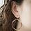 Thumbnail: Colorblock Brass Hoop-Wildflower