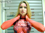 Bodypainting für die Bezirks Rundschau