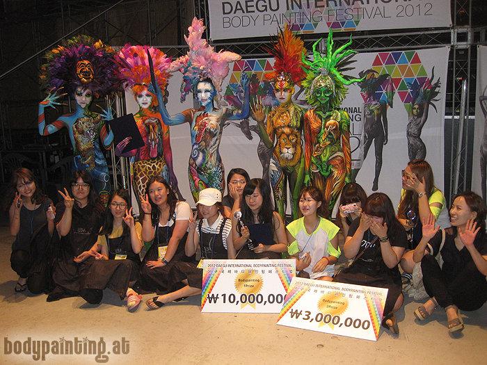 Mike Shane Bodypainting Daegu Winners