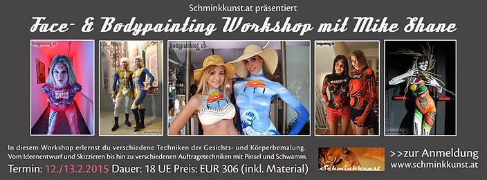 Bodypainting Workshop mit Mike Shane