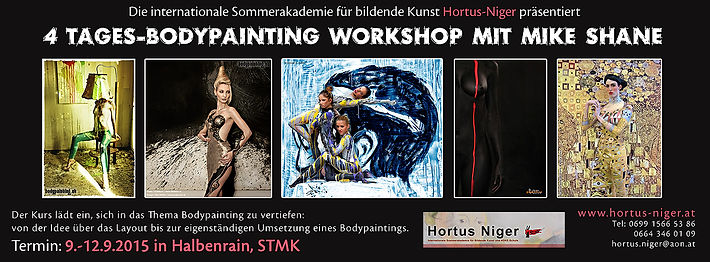 4 Tages Bodypainting Workshop mit Mike Shane