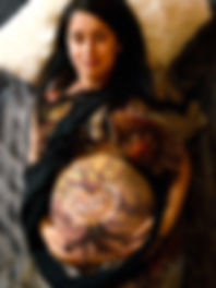 Babybauch Bodypainting Mike Shane