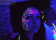 UV Bodypainting für Neon Party in Leoben