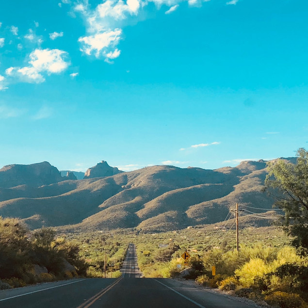 We are located on the right just before the foothills of Mt Lemmon