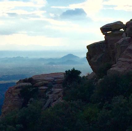 A rock vista, Mt. Lemmon
