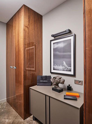 Шкафы с фасадами в шпоне