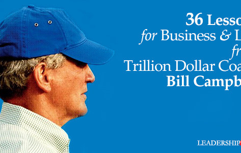 What can I learn from a Trillion Dollar Coach?