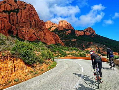 Red Rocks Ride - typical rock formation in the Var department