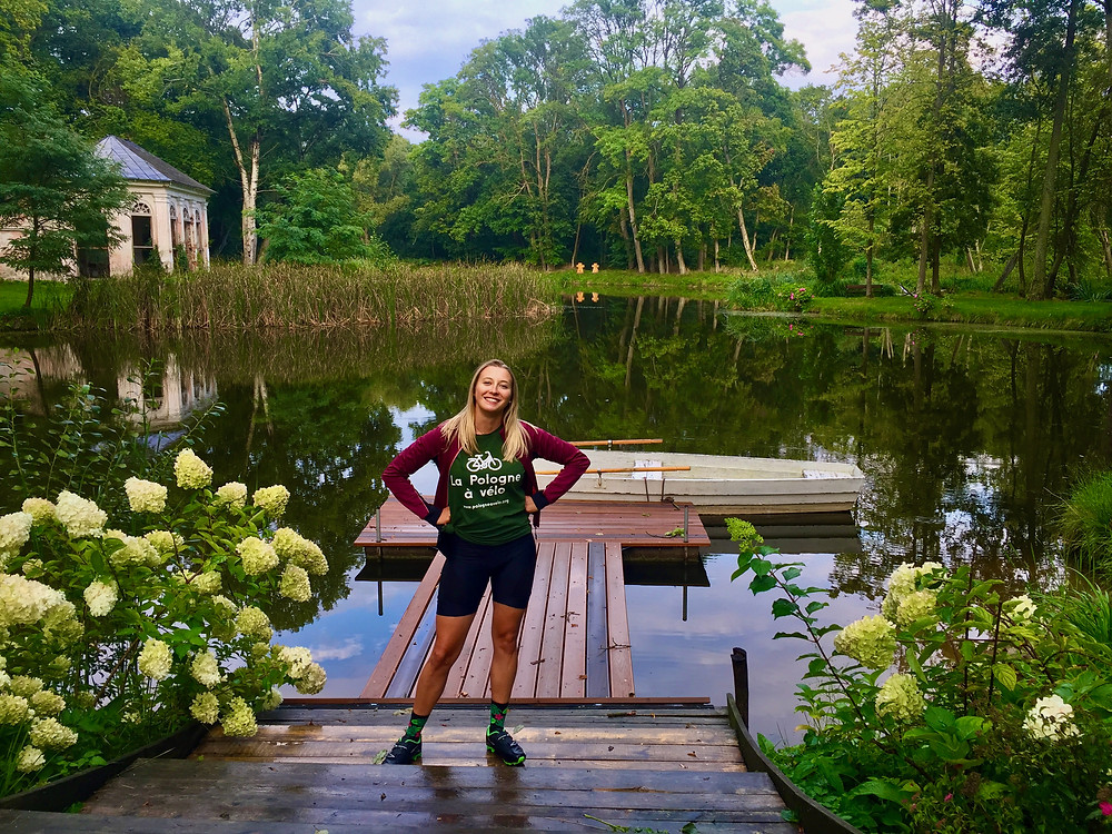 Aleksandra posing in the picturesque nature surroundings